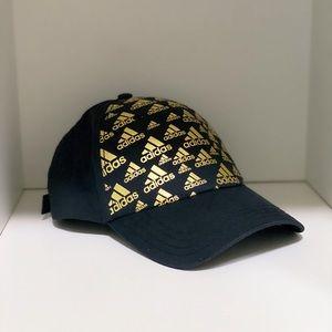 Adidas black and gold ball cap